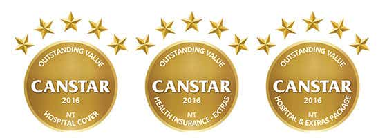 2016 Canstar health insurance state winners - NT