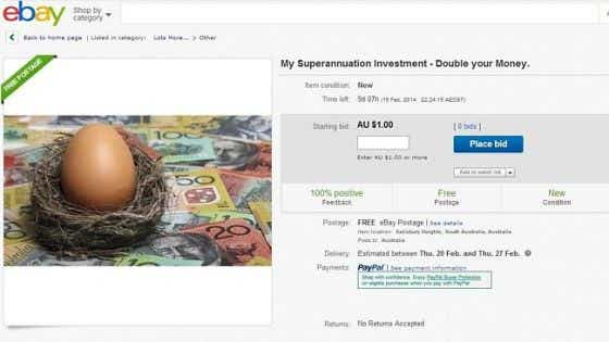Super Listing on eBay