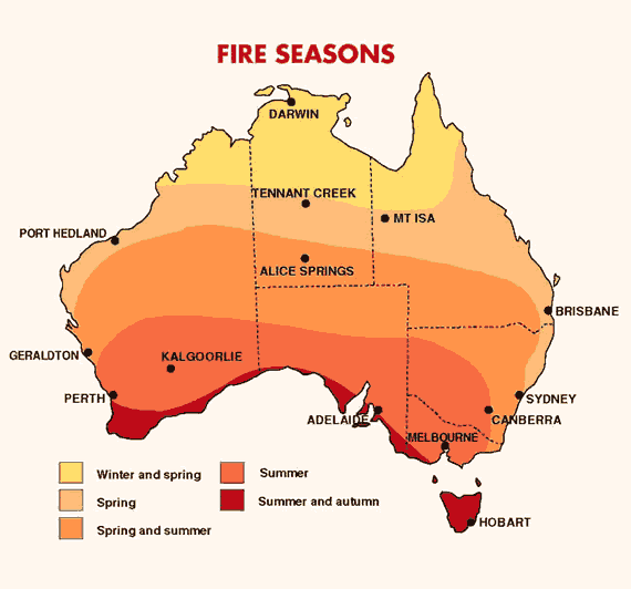 Fire seasons BOM infographic