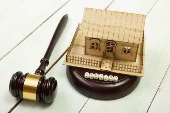 House auction gavel