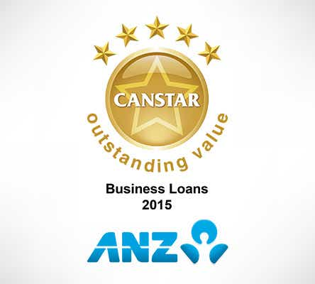 ANZ wins CANSTAR business loans 5 star rating