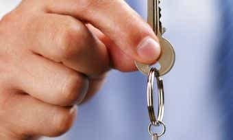 Man holding a key