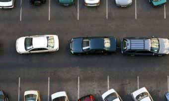 Cars Queued in Carpark