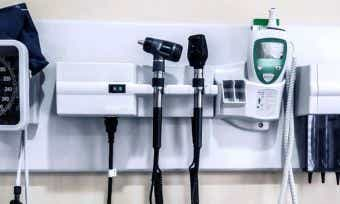 Medical Equipment Hanging on Wall