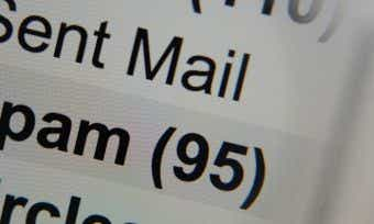 Close Up of Email Box 'Spam'