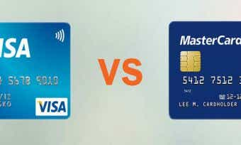 Visa card and mastercard