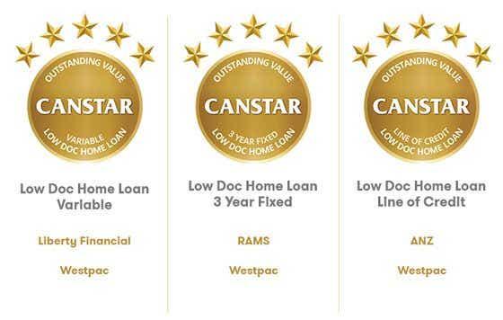 2016 Canstar Low Doc Loans winners