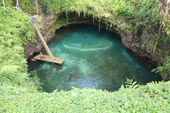 To Sua trench on Samoa's island of Upolu