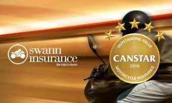 Swann insurance has achieved a Canstar 5 star ratings for motorcycle insurance