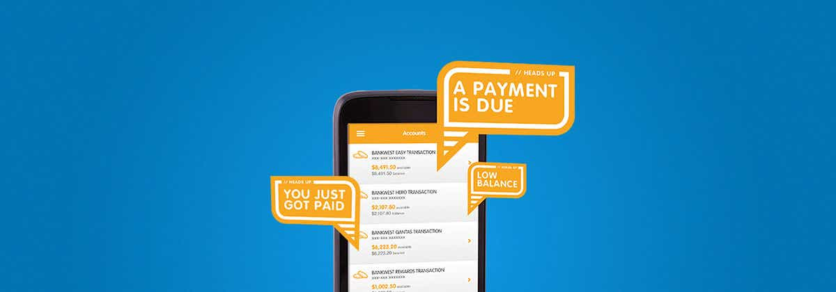 Bankwest Easy Alerts Offer Customised Experience