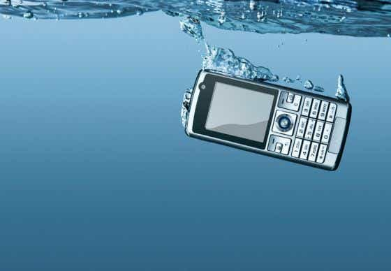 Dropped phone in water