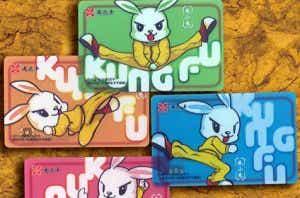 Kung Fu Rabbit card