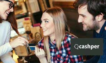 Cashper is a social money network making transactions between people quick and simple