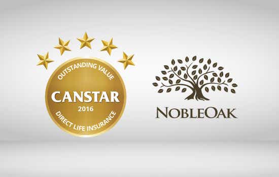 NobleOak has won the CANSTAR 2016 Award for Outstanding Value Direct Life Insurance.