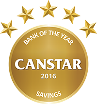 2016 Canstar Bank of the Year - Savings
