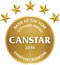 2016 Canstar Customer Owned Institution of the Year - Everyday Banking