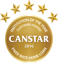 2016 Canstar Customer Owned Institution of the Year - Fixed Home Loan