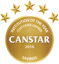 2016 Canstar Customer owned Institution of the Year - Savings