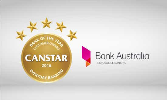 Bank Australia wins 2016 Customer owned institution of the year - everyday banking award