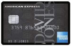 David Jones Amex Credit Card