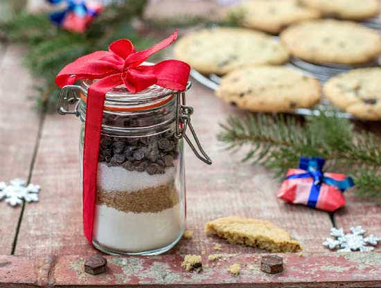 chocolate chip cookie in jar