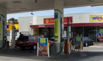 petrol station australia