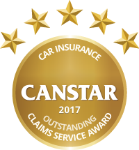 CANSTAR 2017 Outstanding Value Car Insurance Outstanding Claims Service Award logo