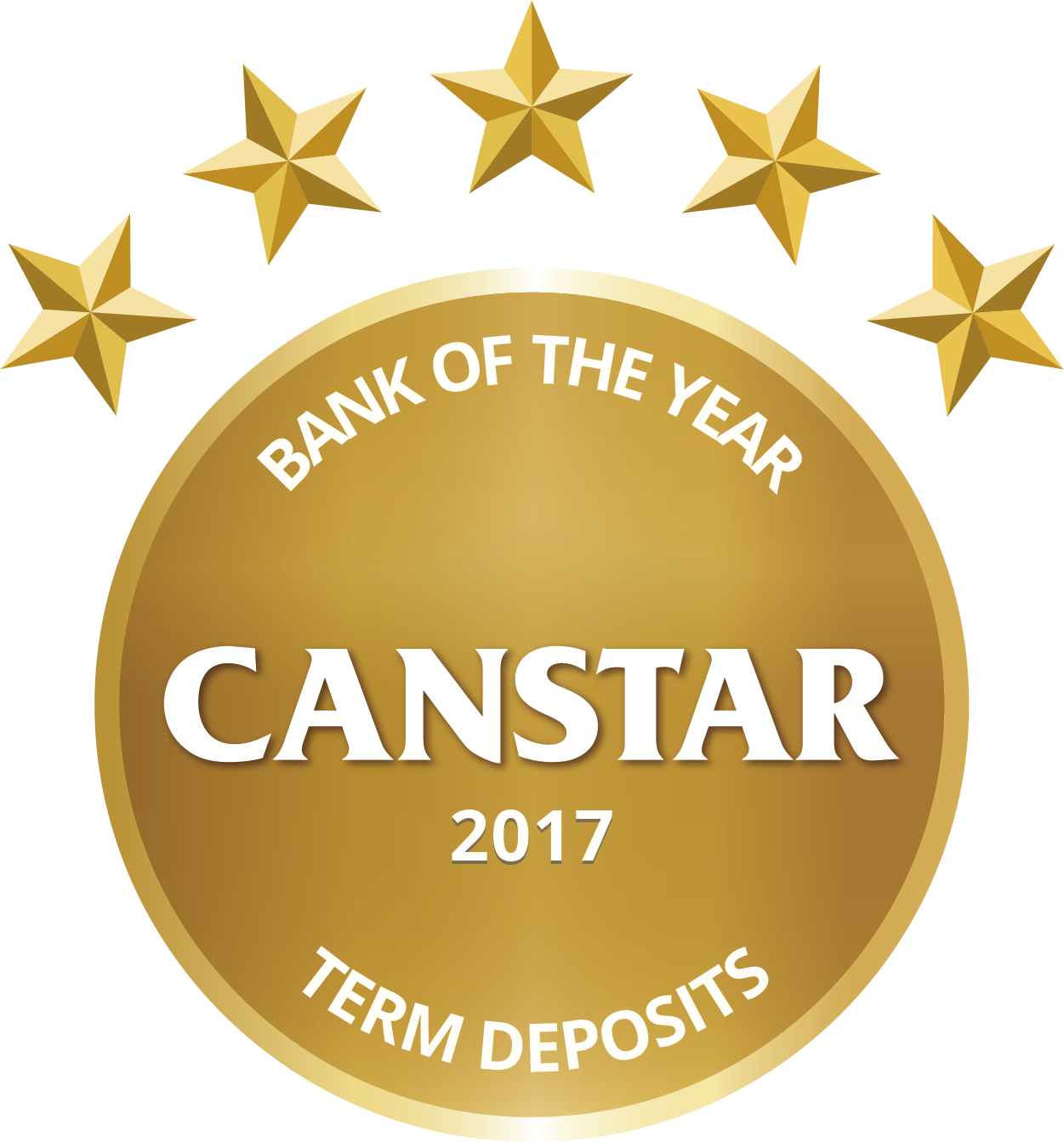 Gold 2017 - Bank of the Year - Term Deposits