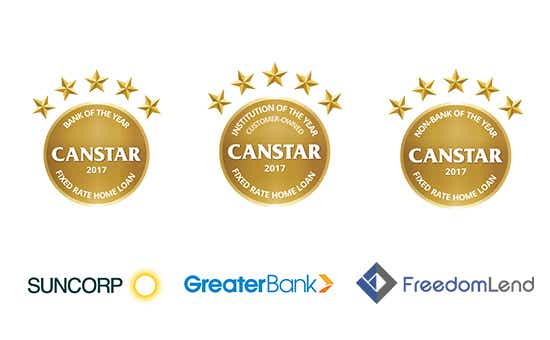 Canstar Fixed Rate Home Loan Award Winners in 2017