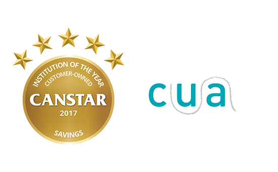 Canstar's Customer-Owned Institution of the Year – Savings Award: CUA