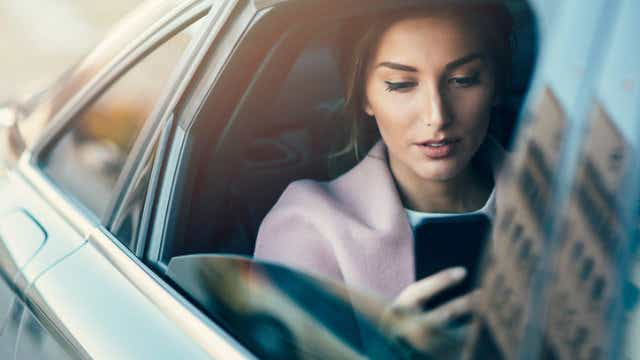 Texting in car