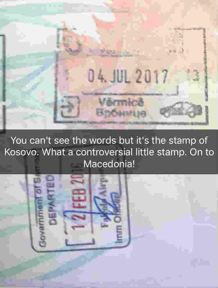 Maddison Clarey_Stamp of Kosovo