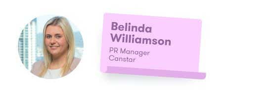 Belinda Williamson - PR Manager at Canstar