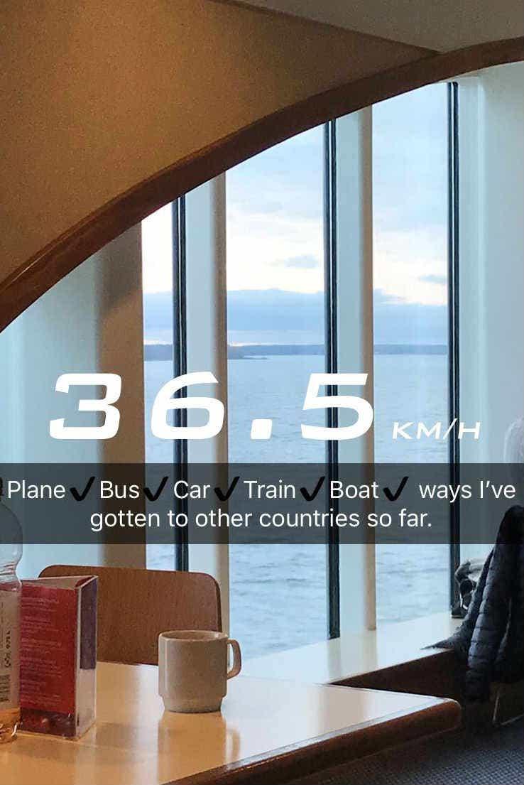 Maddie Clarey snap on a ferry