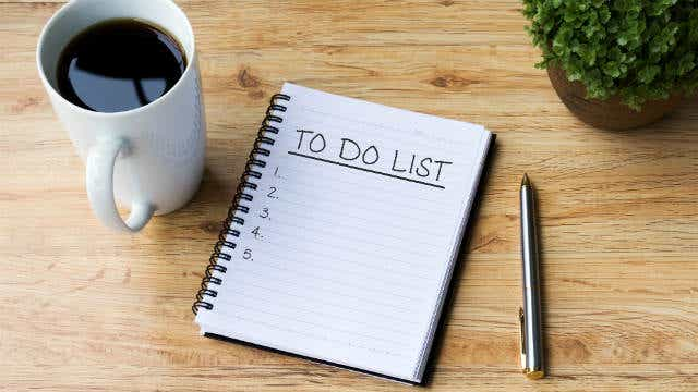 to do list in your 20s