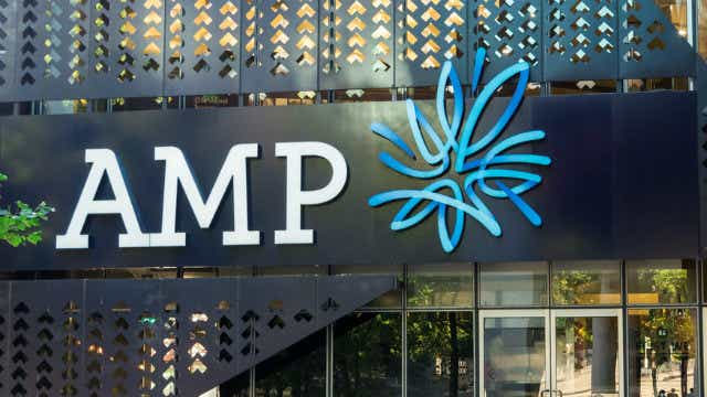 AMP Limted shares down