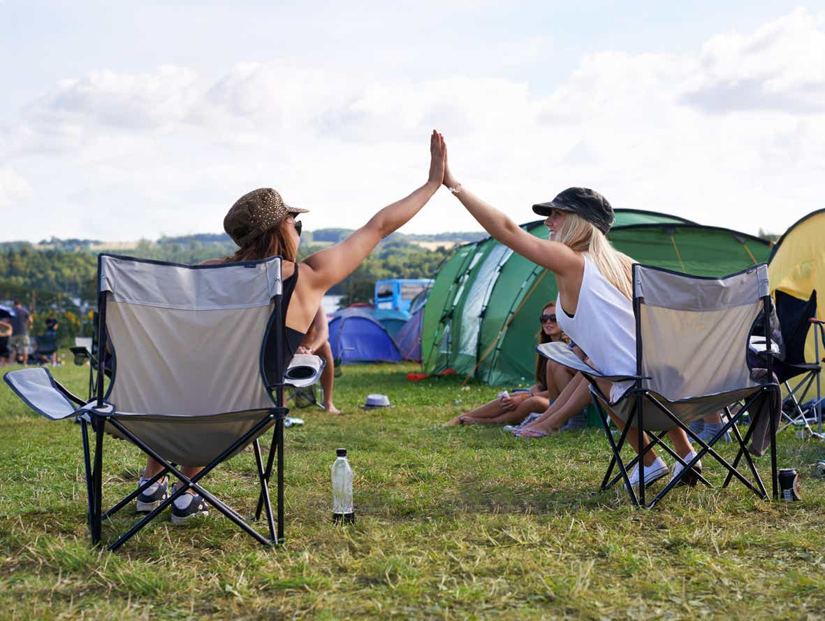 camp chair is essential at a festival