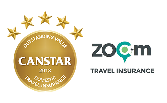 Zoom Travel Insurance received the award for Outstanding Value Domestic Travel Insurance in this year's Star Ratings.