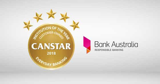 Bank Australia Customer Owned Institution of the Year