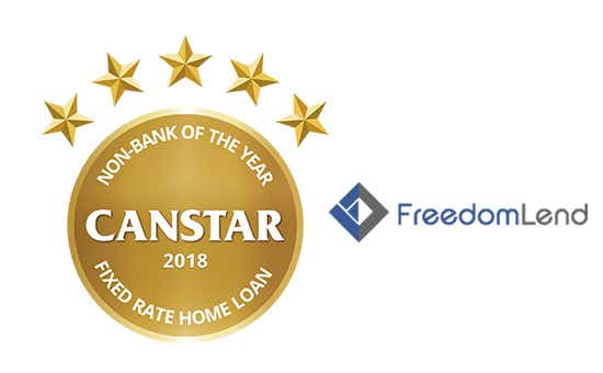 Freedom Lend – Non-Bank of the Year, Fixed Rate Home Loan