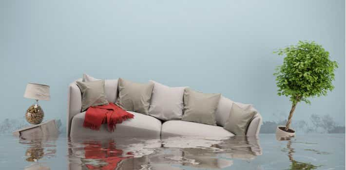 Flooded couch furniture