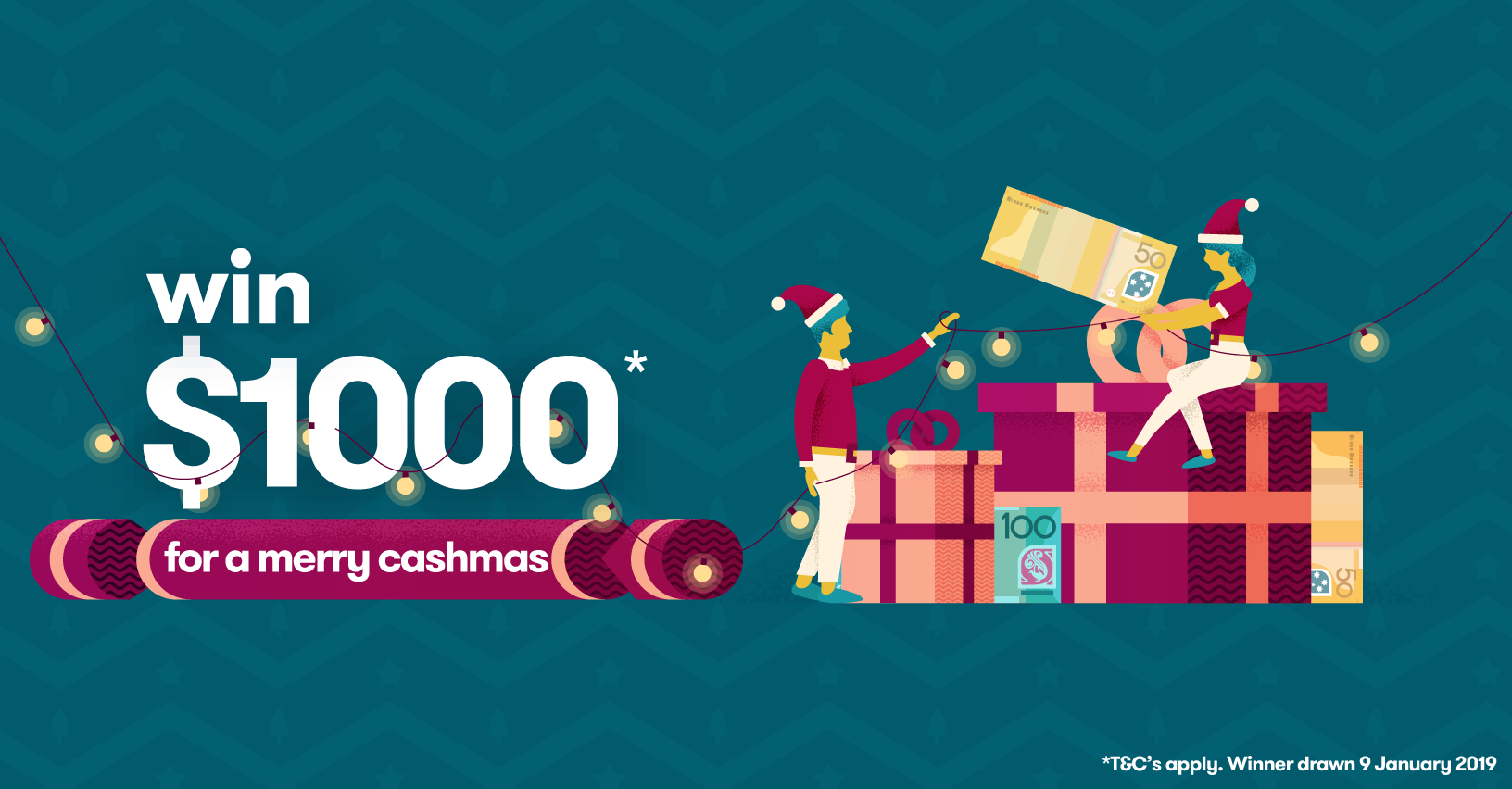 Chance to win $1000 Cash Christmas Giveaway