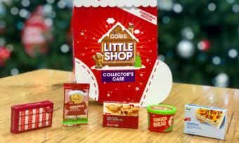 Coles Little Shop christmas collection launch