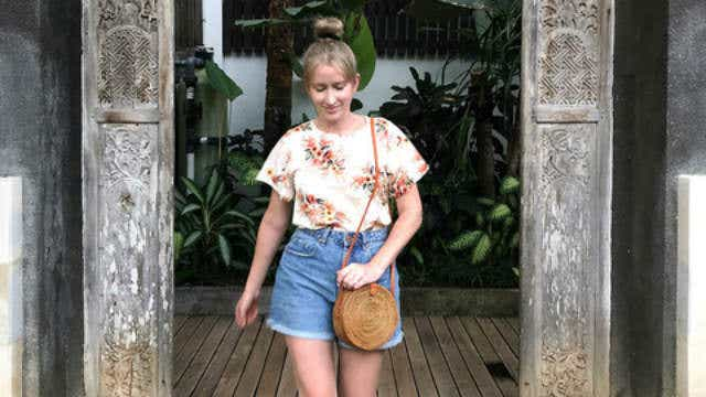 Emily shopping in Bali