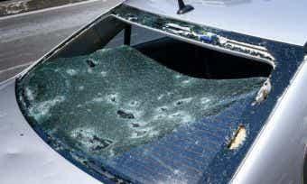 sydney storms aftermath - hail damage - allianz claims