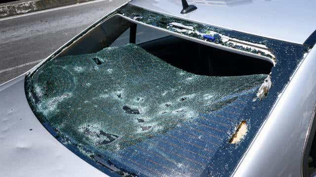 sydney storms aftermath - hail damage - allianz claims