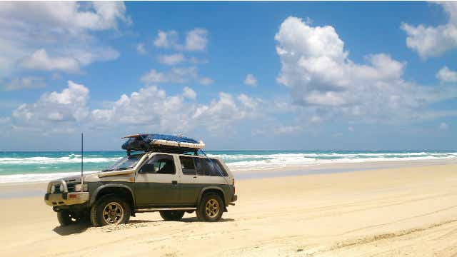 4WD on beach