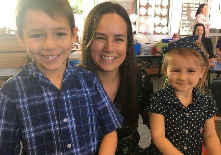 Dannika Patterson and children - Coles Stikeez campaign