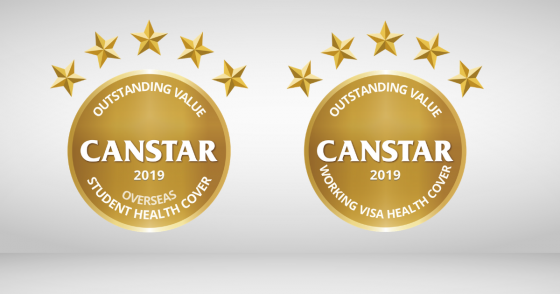 Canstar's 2019 award winning overseas student working visa health cover