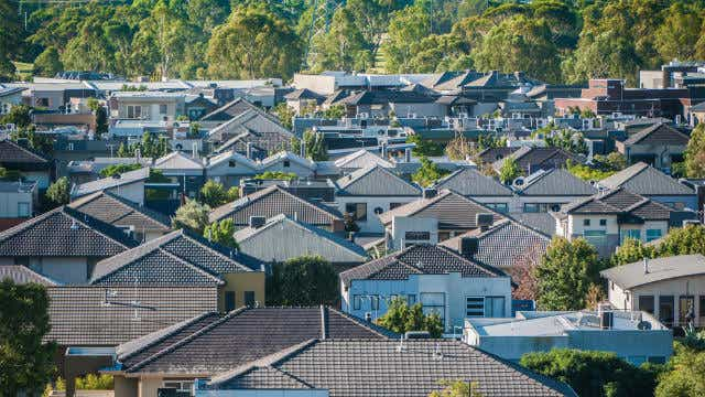 Residential homes in the suburbs of Melbourne, Australia.
